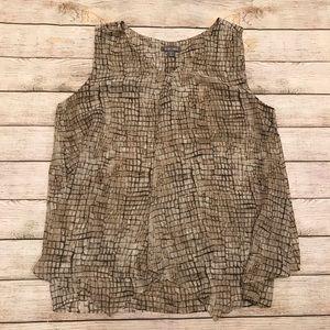 Roz & Ali Sleeveless Layered Blouse Size 1X